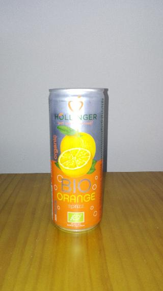 Refresco de Naranja con Gas ecológico. 250 ml. Hollinger.